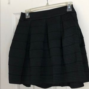 Black fit & flare high waisted skirt